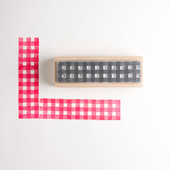 Gingham Border Rubber Stamp