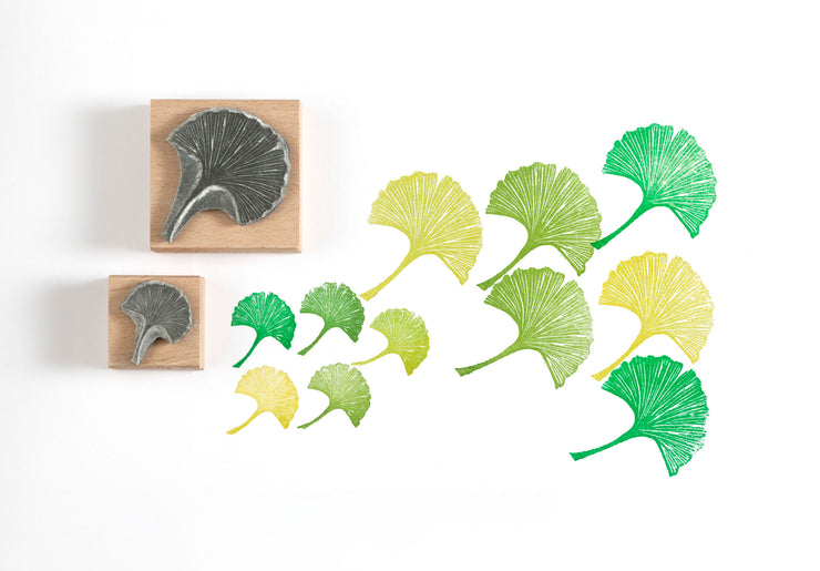 Ginko Leaf Rubber Stamp, Leaf Stamp, Botanical Stamp, Nature Stamp