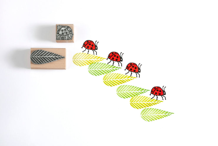 Lady Bird Rubber Stamp, Lady Bug Rubber Stamp, Beetle Stamp, Insect Stamp