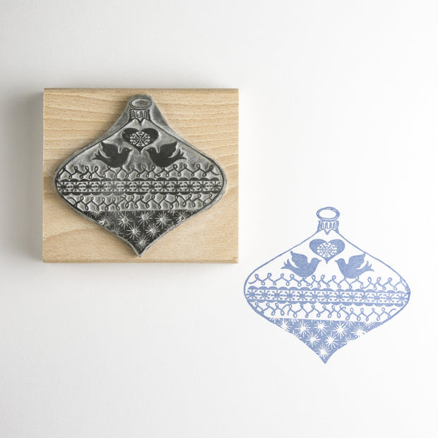 Two Birds Bauble Rubber Stamp