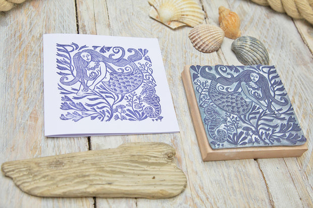 Mermaid Rubber Stamp