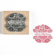 Mexican Flowers  Decorative Stamp Personalised Custom Stamp, Address Stamp, Wedding Stamp, Book Stamp