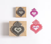 Personalised Mexican Heart Stamp