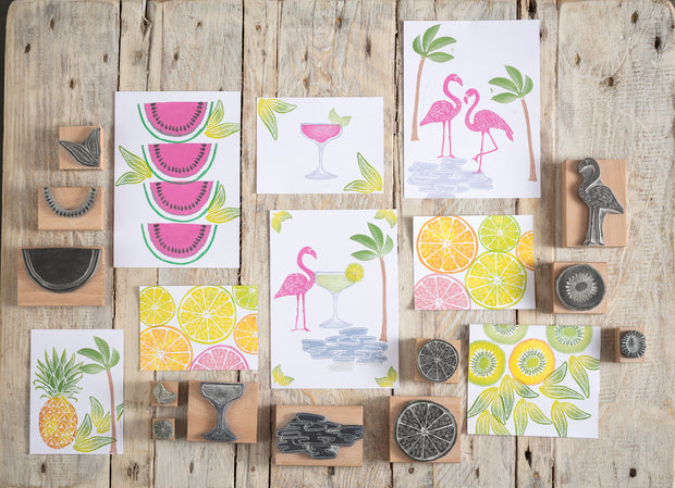 Melon Rubber Stamp