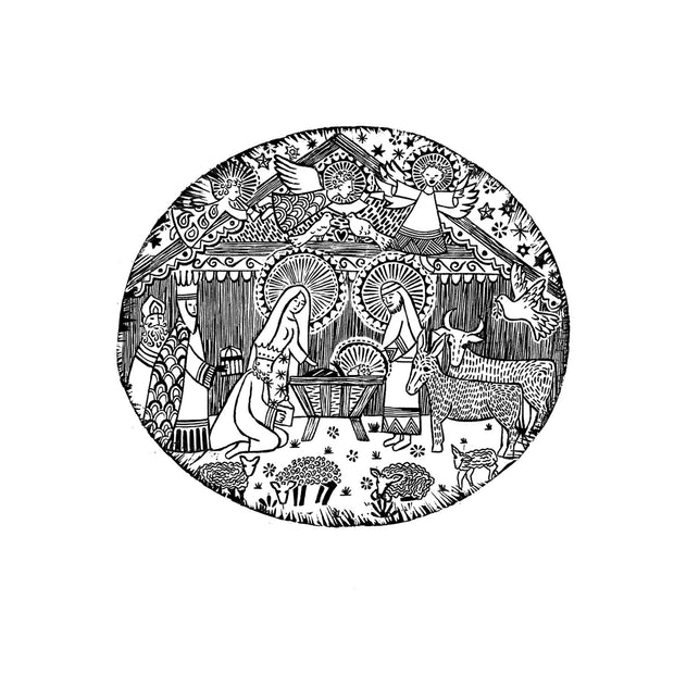 Christmas Nativity Rubber Stamp