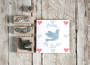 Christmas Rubber Stamp, Christmas Card Stamp, peace stamp, dove stamp