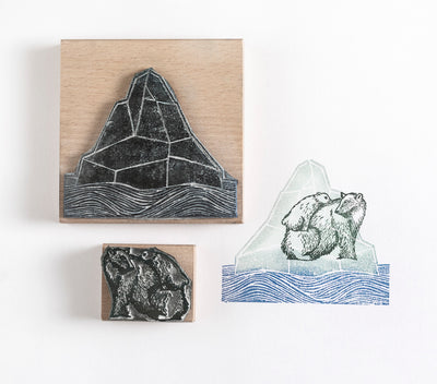 Polar Bear and Iceberg Rubber Stamps