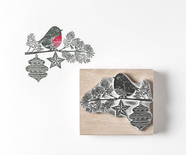 Little Robin Christmas Rubber Stamp