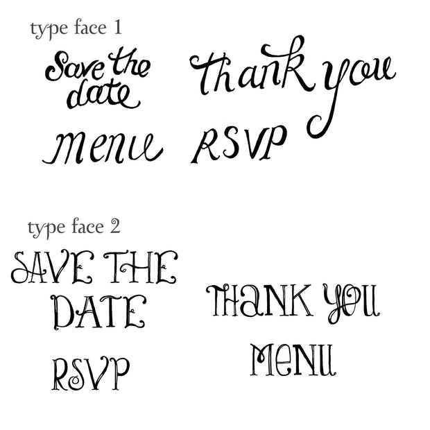 Save the Date Rubber Stamps