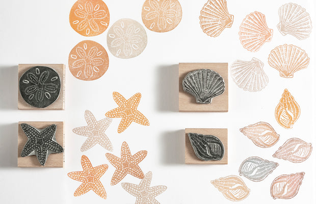 Shell, Starfish and Sand Dollar Rubber Stamps