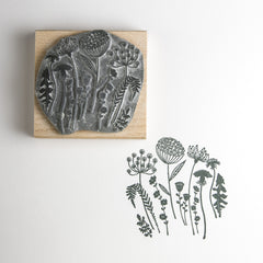 Wild Flower Silhouette Rubber Stamp