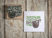 Mamma and Baby Sloth Rubber Stamp