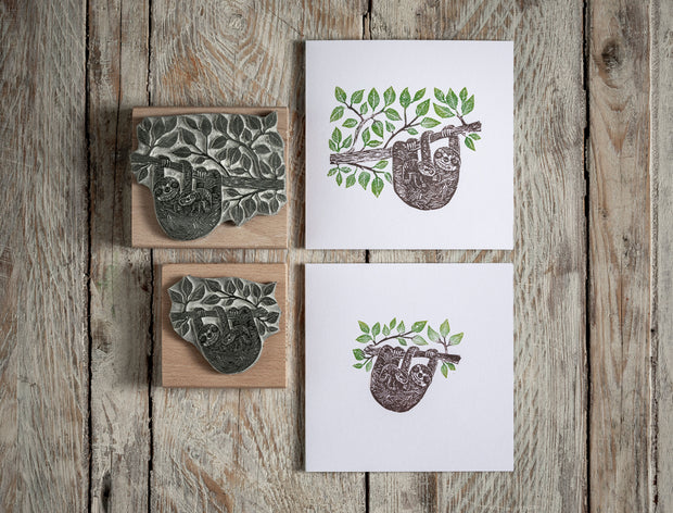 Sloth in the Jungle Rubber Stamp