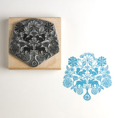 Snowflake Tree Christmas Rubber Stamp