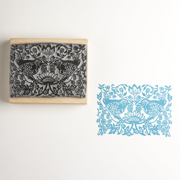 Strawberry Thief Rubber Stamp