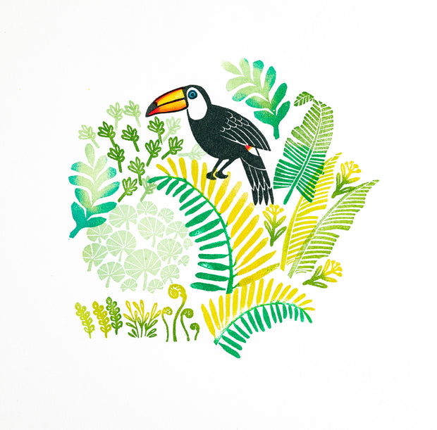 Toucan Rubber Stamps and Jungle Leaves