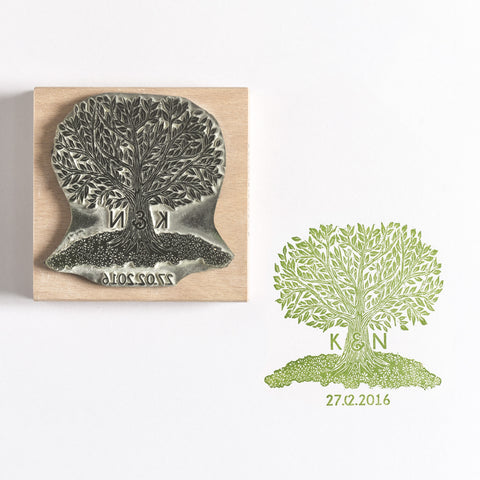 Personalised Tree Rubber Stamp