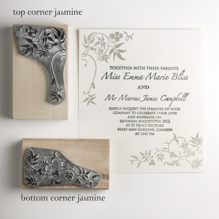 Jasmine Trail Rubber Stamp