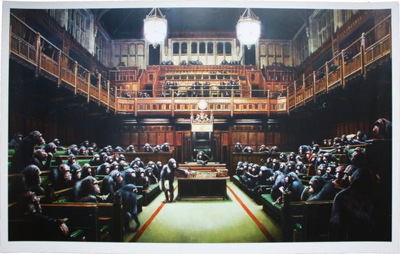 Banksy, Monkey Parliament, 2009 - lougher-contemporary