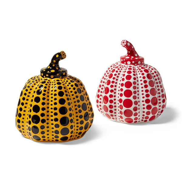 Yayoi Kusama, set of 2 pumpkins (Yellow and Red), 2015 - Lougher Contemporary