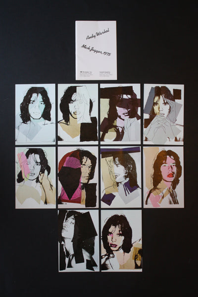 Andy Warhol, Mick Jagger Postcards (Set of 10), 1975-Lougher Contemporary