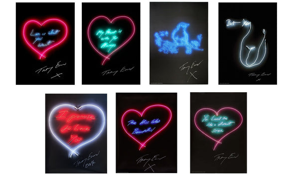 Tracey Emin, Full Set of Neon Prints (7) - Lougher Contemporary