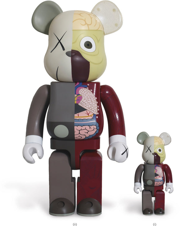 KAWS, Dissected Companion Bearbrick set (Red) 400% & 100%, 2003 - lougher-contemporary