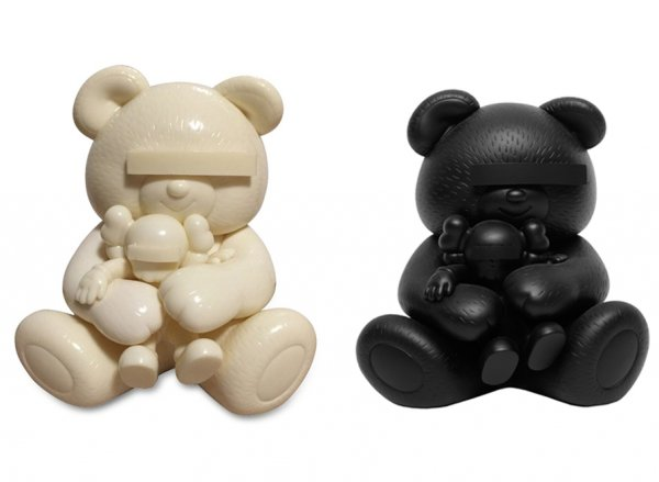 KAWS, Undercover Bear (set of Black and White), 2011