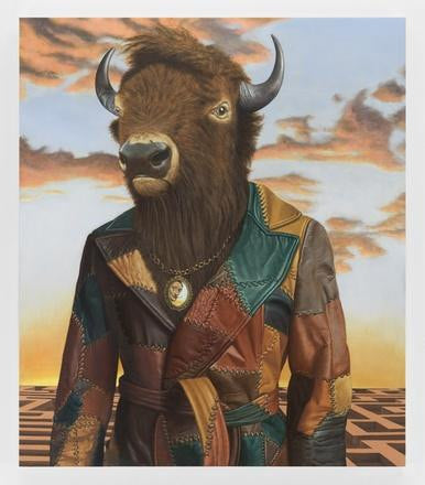 Sean Landers, Buffalo Minotaur, 2017 - lougher-contemporary