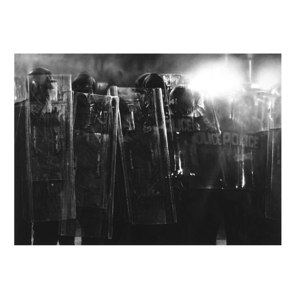 Robert Longo, Untitled (Riot Cops), 2017 - lougher-contemporary