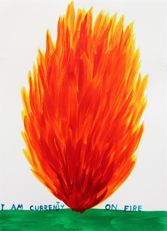 David Shrigley, I Am Currently On Fire, 2018 - lougher-contemporary