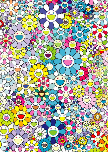 Takashi Murakami, Champagne Supernova: Blue, 2013 - Lougher Contemporary