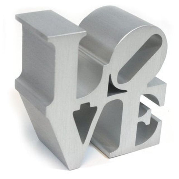 Robert Indiana, LOVE (Silver), 2009 - Lougher Contemporary