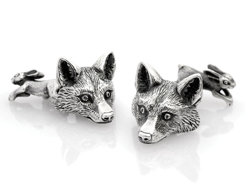 Fox and Hound cufflinks from Davidsons the Jewellers. Men's Jewellery Newcastle.