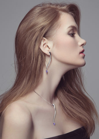 Shooting Star Amethyst Collection by Fei Liu