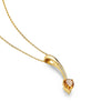 Shooting Star Short Pendant, Citrine