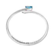 Shooting Star Bangle, Blue Topaz