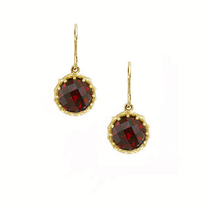 Garnet Coronation Hook Earrings