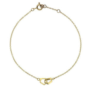 Double Pentagon Yellow Gold Bracelet