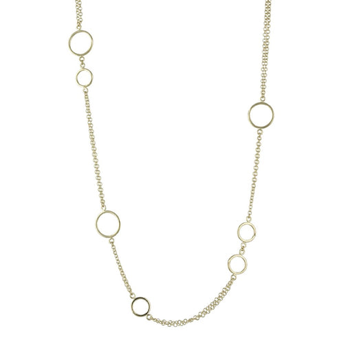 Echo Necklace in Yellow Gold, Long