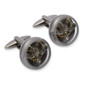 Steel Watch Movement Cufflinks