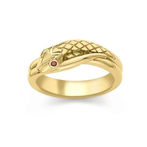 Serpent with Ruby Eyes Ring