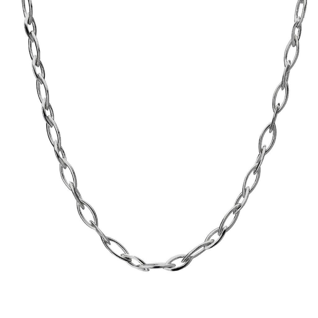 Silver Marquise Chain Necklace