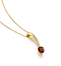 Shooting Star Short Pendant, Garnet