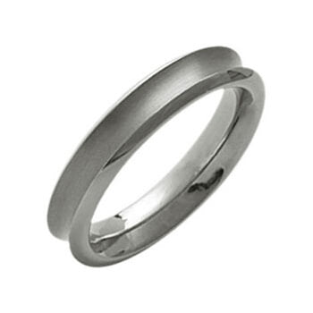 Titanium Concaved Ring