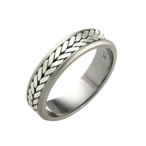 Titanium Twisted Wire Ring