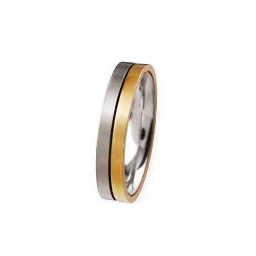 Titanium and Gold Ring