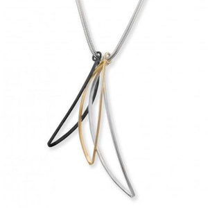 Loco Motion Trio Necklace, Silver and Gold