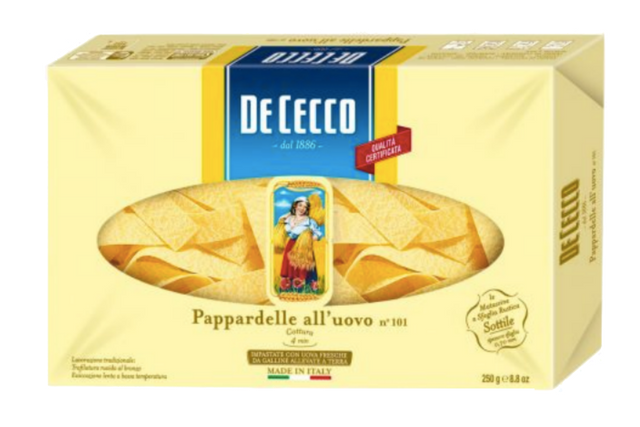 Egg Pappardelle De Cecco (12x250g) | Delicatezza | Wholesale
