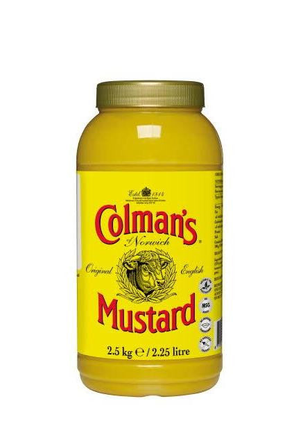 English Mustard Colmans (2.25lt) | Delicatezza | Wholesale